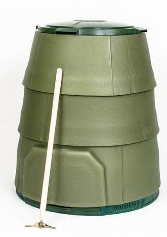Gröna Johanna Vinter med luftningsstav och vinterkappa
